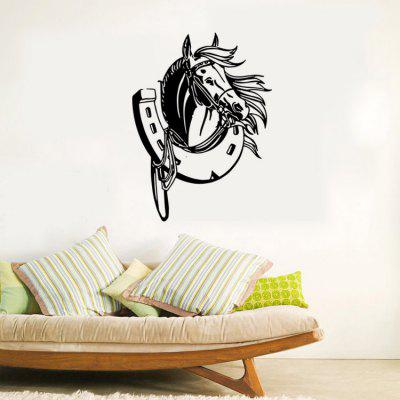 Horse Shoe Removable PVC Wall Decor Stickers