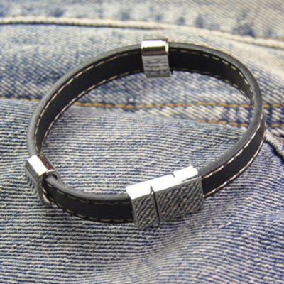 Chic Hand Knitting Faux Leather Chain Bracelet For Men