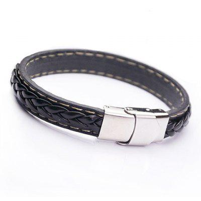 Faux Leather Rope Chain Knitting Bracelet