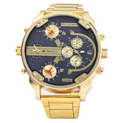 JUBAOLI 1068 Date Display Men Four Movt Quartz Watch