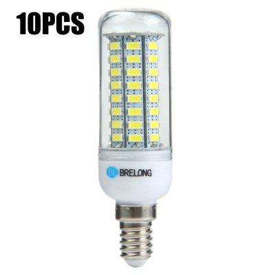 10 x BRELONG E14 12W 1200Lm SMD 5730 LED Corn Light Bulb