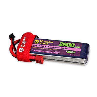 Extra Kudian T Plug 2S 7.4V 2600mAh 25C Battery for RC Multirotor Vehicle Boat