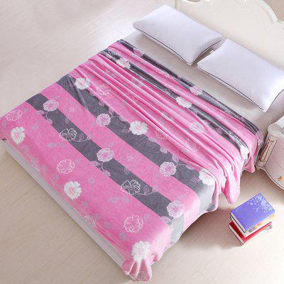 Stylish Flower Pattern Super Soft Warm Polyester Colorful Blanket