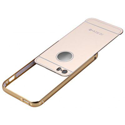 2 in 1 Metal Frame Mirror Cover Case for iPhone 5 5S