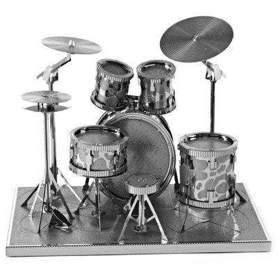 Drum Set 3D Metallic Puzzle Educational DIY Toy