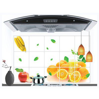 Orange Pattern Anti Oil Kitchen Wall Stickers