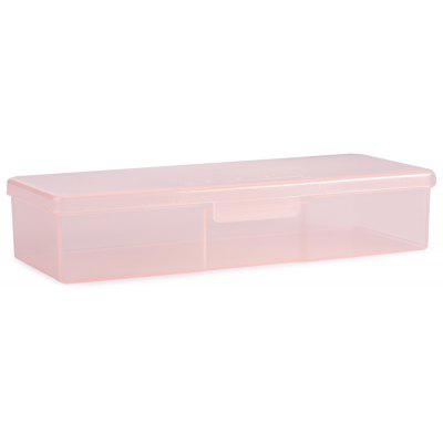Portable Nail Art Pure Color Rectangle Multiduty Makeup Box