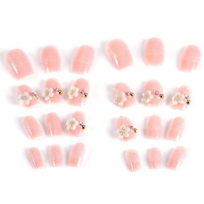 Trendy Pearl Flicker Acrylic Elegant Crystal Bride Wedding Artificial Nail