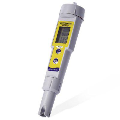 pH-618 2 in 1 pH Test Pen / ThermometerTesters &amp; Detectors<br>pH-618 2 in 1 pH Test Pen / Thermometer<br><br>Accuracy: ±0.1pH / ±0.1 Dgree<br>Certificate: CE,RoHs<br>Material: ABS<br>Model: pH-618<br>Package Contents: 1 x pH-618 2 in 1 pH Test Pen / Thermometer, 1 x English Manual<br>Package size (L x W x H): 20.9 x 10.5 x 5.1 cm / 8.21 x 4.13 x 2.00 inches<br>Package weight: 0.207 kg<br>Product size (L x W x H): 19.1 x 4.1 x 4.1 cm / 7.51 x 1.61 x 1.61 inches<br>Product weight: 0.079 kg<br>Resolution: 0.01pH / 0.1 Degree<br>Special function: pH Temperature Meter<br>Temperature Compensation: 0 - 50 Degree<br>Working Temperature: 0 - 50 Degree