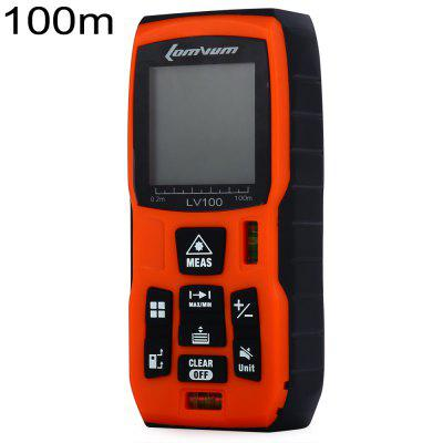 Lomvum LV100 100m Laser Distance Meter Diastimeter Water Resistant with Level Bubble