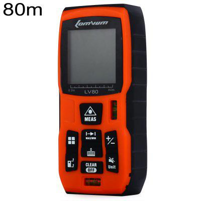 Lomvum LV80 80m Laser Distance Meter Diastimeter Water Resistant with Level Bubble
