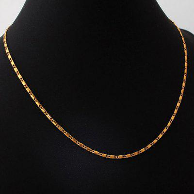 Vintage Solid Color Link Necklace For Men