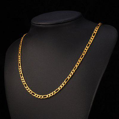 Delicate Solid Color Chain Necklace For Men