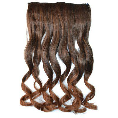 Fashion Fluffy Curly Stunning Long Brown Ombre Clip In Synthetic Hair Extension For Women