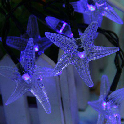 WTL - HX Solar LED String Light Holiday Starfish Shape Lights