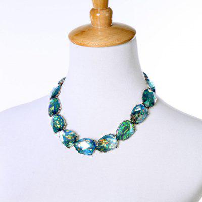 Graceful Alloy Faux Gemstone Necklace For Women