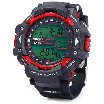 8338G Multifunctional Men LED Sports Watch Digital Wristwatch