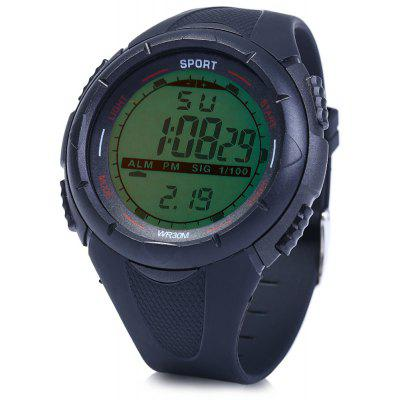 8333G Day Date Alarm Stopwatch Heren LED sporthorloge