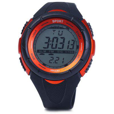 8333G Day Date Alarm Stopwatch Men LED Sports WatchSports Watches<br>8333G Day Date Alarm Stopwatch Men LED Sports Watch<br><br>Available Color: Black,Blue,Orange,Red,White<br>Band material: Rubber<br>Case material: PC<br>Clasp type: Pin buckle<br>Display type: Digital<br>Movement type: Digital watch<br>Package Contents: 1 x 8333G Watch<br>Package size (L x W x H): 26.00 x 6.00 x 2.30 cm / 10.24 x 2.36 x 0.91 inches<br>Package weight: 0.2640 kg<br>People: Male table<br>Product size (L x W x H): 25.00 x 5.00 x 1.30 cm / 9.84 x 1.97 x 0.51 inches<br>Product weight: 0.0550 kg<br>Shape of the dial: Round<br>Special features: Alarm Clock, Day, Stopwatch, EL Back-light, Date<br>The band width: 2.0 cm / 0.79 inches<br>The dial diameter: 5.0 cm / 1.97 inches<br>The dial thickness: 1.3 cm / 0.51 inches<br>Watch style: Outdoor Sports, LED<br>Water resistance: 30 meters