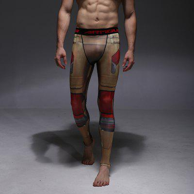 Men Fitness Compression Pants with Pattern