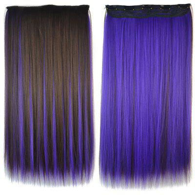 Buy COLORMIX Fashion Purple Highlight Synthetic Stunning Long Silky Straight Clip In Hair Extension For Women for $7.53 in GearBest store
