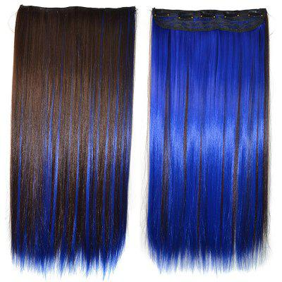 Long Highlight Silky Straight Synthetic Clip-In Hair Extension