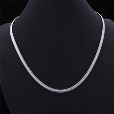 Delicate Titanium Steel Snake Chain Necklace For Men