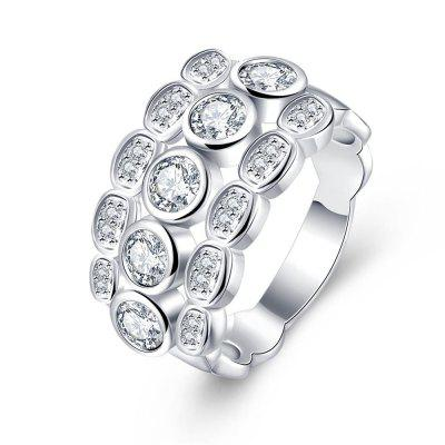 R723 Silver Plated New Design Finger Ring for Lady