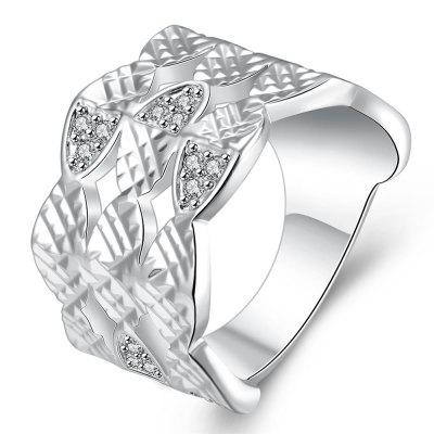 R744 Silver Plated New Design Finger Ring for Lady