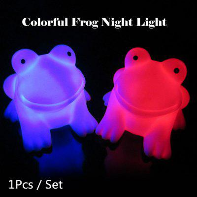 Energy Magic LED Cute Frog Night Light Novelty Lamp Changing Colors Colorful Nightlight Lamp Flashing Toy P4PM