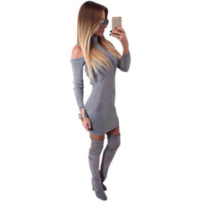 Buy Stand Collar Long Sleeve Cut Out Pure Color Bodycon Women Dress GRAY S Apparel > Women's Clothing > Women's Dresses > Bodycon Dresses for $12.38 in GearBest store