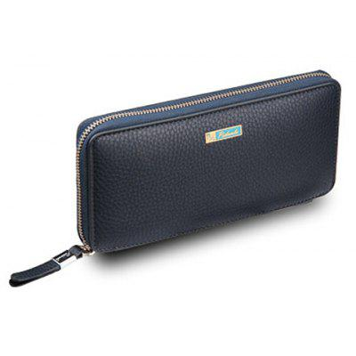 Simple Lichee Pattern and PU Leather Design Men's Clutch Bag
