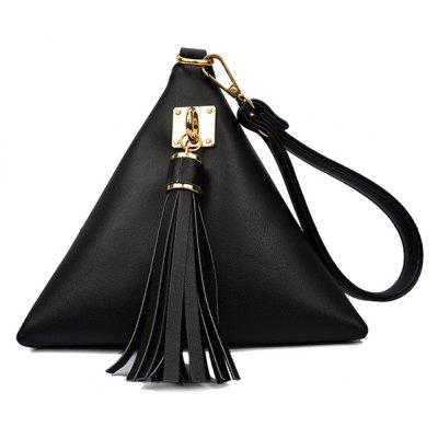 Stylish Triangle Shape and Tassel Design Women's Clutch Bag