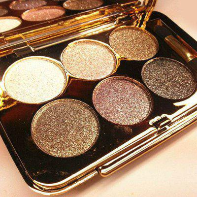 6 Colours Diamond Eyeshadow Palette with Mirror and Brush