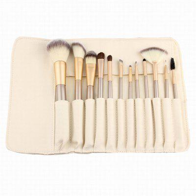 12 Pcs Horsehair Makeup Brushes Kit