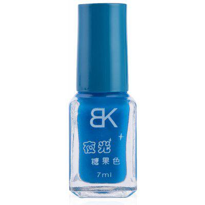 Buy DEEP BLUE 08 7ml bNoctilucent Fluorescent Lacquer Neon Glow In Dark Nail Polish for $5.53 in GearBest store