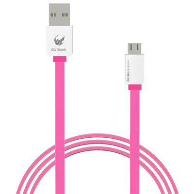 Old Shark 1m Micro USB Charge Sync Flat Cable