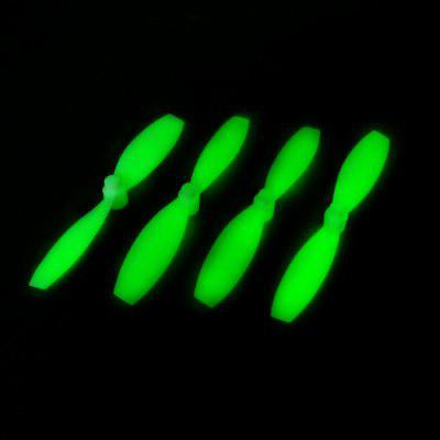 4Pcs Extra Spare H101 - 005 Luminous Propeller for Floureon H101 Remote Control Quadcopter
