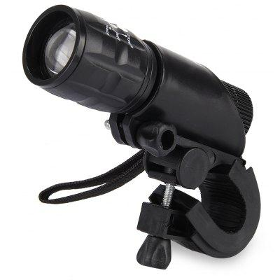 Gearbest Q5 3 Modes LED Bike Light Zoomable Torch  -  BLACK