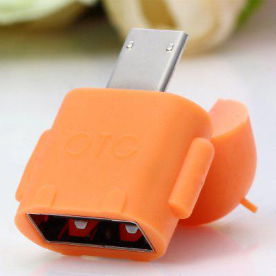 Android Robot Shape Micro USB OTG Connector