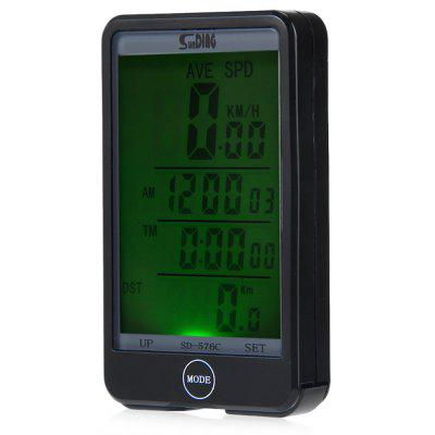 SD - 576C Large Screen Mode Touch Wireless Bicycle Computer Odometer