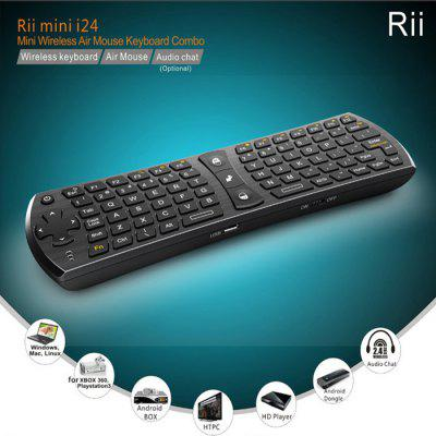 Rii i24 Mini 2.4GHz Wireless Air Mouse Keyboard Combo