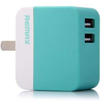REMAX Fast Charging Dual USB Ports Power Adapter US Plug