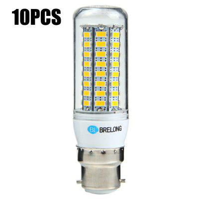 10 x BRELONG B22 12W 1200Lm SMD 5730 LED Corn Light Bulb