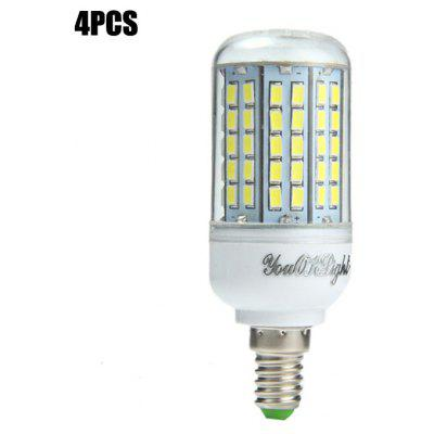Buy 4PCS YouOKLight E14 SMD 5730 2000Lm 18W LED Corn Light Bulb WHITE E14 for $23.20 in GearBest store