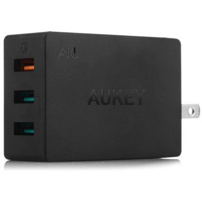 Aukey PA-T2 US Plug Power Adapter Wall Charger 3 USB Port