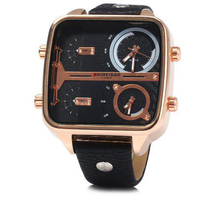 Shiweibao J8099 Dual Movt Date Function Men Quartz Watch