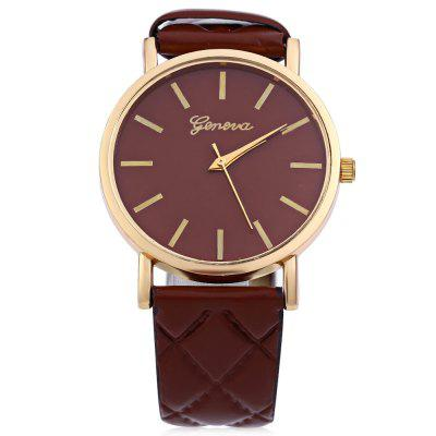 Female Analog Quartz WatchWomens Watches<br>Female Analog Quartz Watch<br><br>Band material: Leather<br>Case material: Alloy<br>Clasp type: Pin buckle<br>Display type: Analog<br>Movement type: Quartz watch<br>Package Contents: 1 x Ladies Quartz Watch<br>Package size (L x W x H): 25 x 4.8 x 1.7 cm / 9.83 x 1.89 x 0.67 inches<br>Package weight: 0.087 kg<br>Product size (L x W x H): 24 x 3.8 x 0.7 cm / 9.43 x 1.49 x 0.28 inches<br>Product weight: 0.027 kg<br>Shape of the dial: Round<br>Style: Fashion&amp;Casual<br>The band width: 2 cm / 0.79 inches<br>The dial diameter: 3.8 cm / 1.50 inches<br>The dial thickness: 0.7 cm / 0.28 inches<br>Watches categories: Female table<br>Water resistance : Life water resistant<br>Wearable length: 17.5 - 21 cm / 6.89 - 8.27 inches