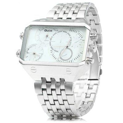 Oulm 3285 3-Movt Big Dial Male Quartz Watch