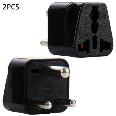 WD-010 2PCS South Africa Plug to Universal Socket Adapter